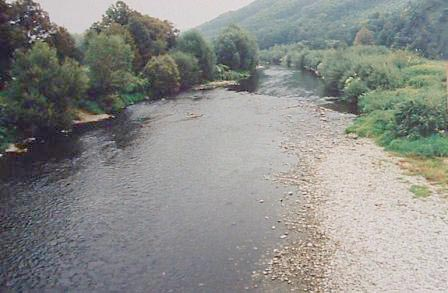 The Becva River at the town of Prerov